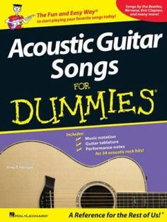 Cover image for Acoustic guitar songs for dummies