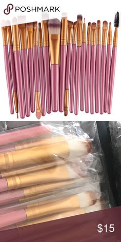20 PIECE MAKE UP BRUSH SET - PINK WITH SOFT GOLD Excellent 20 piece make up brush set. This has all you'll need. Why pay $20 for one brush when you can get an entire set for such a great price? Other colors are available in my Closet. New and direct from the maker.  ❤️ Save 20% when you buy 2+ items in my Closet ❤️    If you LIKE my Closet, FOLLOW ME to see NEW ARRIVALS   Jewelry accessories popular beach pool summer birthday gift present women vacation cruise date night beach spring club…