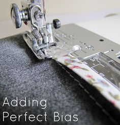 Adding perfect bias tutorial Sew Can She | Free Daily Sewing Tutorials