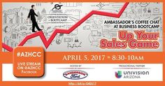 Join Univision Arizona & the Arizona Hispanic Chamber of Commerce on Wednesday April 5th at Sanderson Ford in Glendale for Business Bootcamp Up Your Sales Game. Learn how to up your sales game and hear a special presentation by Univision on Hispanic Marketing. Guests at the event will get access to exclusive offers and a chance to tour the Sanderson Ford Museum!