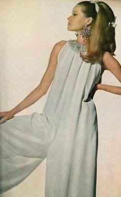 VOGUE US 1966 Veruschka in a Chic White Jumpsuit