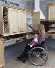 Freedom Kitchen Cabinet & Shelf Lifts For Wheelchair Accessibility---lots of ideas on this website