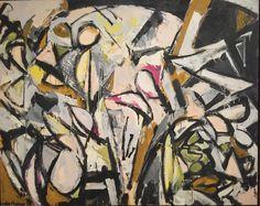 Jackson Pollock b. The Springs, New York Jackson + lee krasner's holiday card 1950 Paul Jackson Pollock. Action Painting, Jackson Pollock, Lee Krasner, Seattle Art Museum, Expressionist Artists, Helen Frankenthaler, My Art Studio, Joan Mitchell, Famous Art