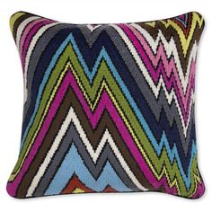 J. Adler Bargello Coral Lane Pillow, $135.
