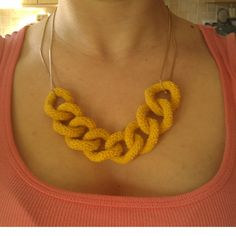 Curb Chain Crochet Necklace Pattern
