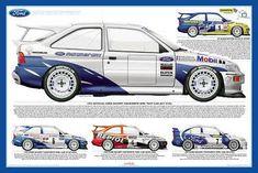 Slot Cars, Race Cars, Carros Suv, Ford Rs, Car Illustration, Ford Escort, Sports Car Racing, Automotive Art, Rally Car