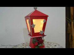 Farolillo Navideño Luminoso. Hecho con cartón. Proyecto Navidad 2020 - YouTube Ideas Para, Lanterns, Christmas Decorations, Table Lamp, Diy, Youtube, Home Decor, Molde, Recycled Crafts