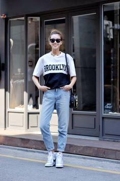 이호정 Lee Ho Jung (Model) Women's Street Style , korea Seoul 2014 may 6 top : siero / necklace : monday-edition / Bag : luckychouette (Cr)streetper.co.kr