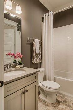 Brown bathroom paint, bathroom colors brown, small bathroom paint c Bathroom Colors, Small Bathroom Decor, Small Bathroom Remodel, Amazing Bathrooms, Apartment Bathroom, Diy Bathroom Remodel, Bathroom Mirror, Guest Bathrooms, Small Remodel