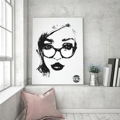 """""""Ana""""  Art Canvas By Weart2.com art collection by Marianela Sastre"""