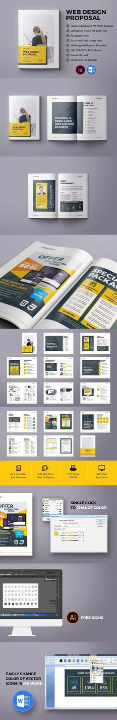 Professional Business Proposal Templates Design - 20 Print Ready - web design proposal template
