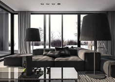 modern gray living room design