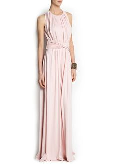 MANGO - CLOTHING - Dresses - Cocktail - DRAPED DETAIL GOWN