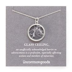 This symbolic necklace pays tribute to the accomplishments of empowered women everywhere.