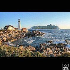 Maine  Pic of the day 09.26.15  Photographer @suereflections  Congratulations!   #scenesofME #capeelizabeth #portlandheadlight #mainelife #carnival #liberty #carnivalcruise #visitmaine #vacationland #mainetheway #mainemagazine #downeastmagazine #newengland