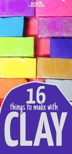 16 Fun Clay Crafts f