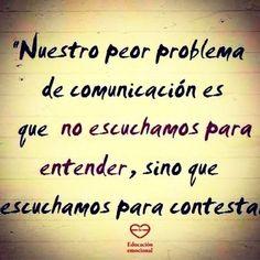 Nuestro problema de comunicación