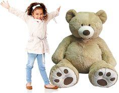 Hugfun 53(134cm)Plush Sitting Bear-Blonde (3+Years) polyester fabric Beautifl