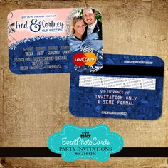 1000 Images About Wedding Credit Card Invitations On Pinterest