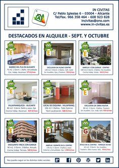 Destacados en Septiembre y Octubre 2014. #incivitas #alquiler
