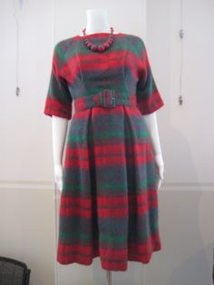 tartan woollen dress... looks a little frumpy but let's face it, frumpy suits me