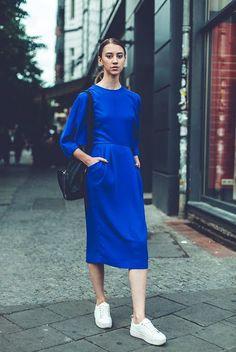 Modest Blue Dress
