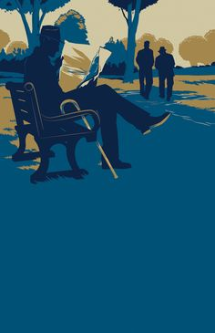 John Le Carre by Matt Taylor, via Behance