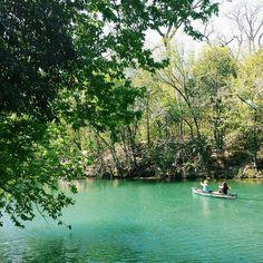 Hike and bike trail along Barton Springs in Austin, Texas