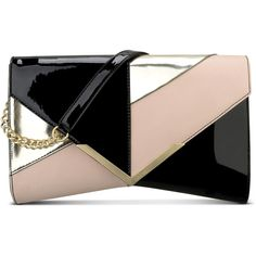 Nine West Collection Clutch (€62) ❤ liked on Polyvore featuring bags, handbags, clutches, shoulder strap purses, imitation handbags, faux-leather handbags, shoulder strap handbags and nine west purses