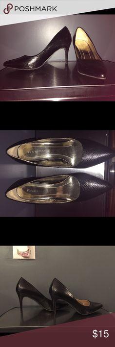 Black snakeskin shoes Black snakeskin shoes Rampage Shoes Heels