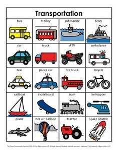 Category/Concept Boards - Transportation by Lauren Erickson Preschool Classroom Rules, Transportation Preschool Activities, Transportation Unit, Kindergarten Learning, Toddler Learning Activities, Preschool Curriculum, Learning English For Kids, Kids English, English Language Learning