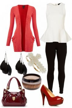 Outfit Styled On Fantasy Per Fashion Style Skirt Outfits Red