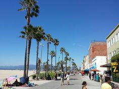 walking venice beach in Los Angeles, CA