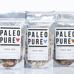 Paleo Pure - Granola Packaging #creativepackaging #standuppouches curated by Copious Bags