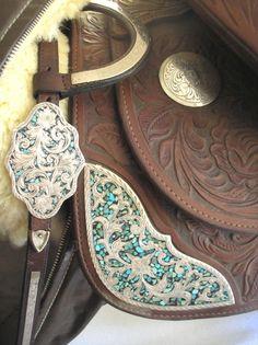 Vintage Victor Quality Custom Western Show Saddle Silver Headstall | eBay