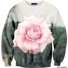 batnorton одиночные крупные цветы розы 3D цифровой место печати пуловер - Taobao