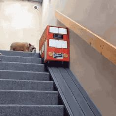 Taking a bus downstairs - Imgur