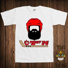 b246c8c157 Funny Hockey Beard T-shirt Sports Tshirt Tee Shirt It's Playoff Time  November Moustache Beards