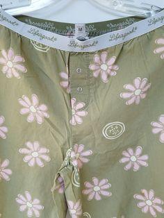 Life is Good Pj Pajama Lounge Pants Bottoms Green Pink Flowers Medium Womens Womens Pjs, Pajama Bottoms, Lounge Pants, Wonderful Things, Pink And Green, Pink Flowers, Life Is Good, White Shorts, Facebook