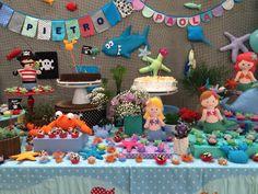 Festa Pirata e Sereia - decoração mini mimo festas- www.minimimofestas.com.br