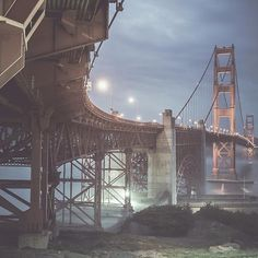 A underside of San Francisco's Golden Gate Bridge, that usually is not seen ~ Photo by...@nostalgic_dreams.