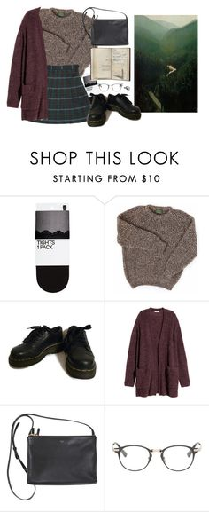 """""""emerald"""" by paper-freckles ❤ liked on Polyvore featuring H&M, Dr. Martens and Dita"""