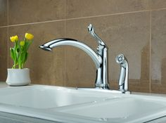 Delta 9159-DST Trinsic Single Handle Pull-Down Kitchen Faucet ...