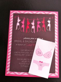 Cute bachelorette invites