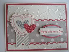 BANNER HEART Card Kit (4 cards lot), Stampin Up, Valentine