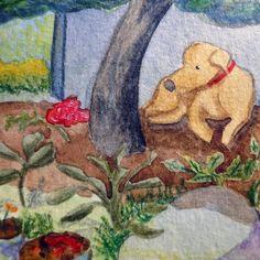 Detalhe de um desenho com Pozinho debaixo da rvoreLittle Bread and his beloved shadow under the tree