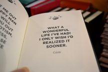 What a wonderful life I've had! I only wish I'd realized it sooner. #WonderfulLife #SearchQuotes
