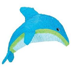 """Item Includes Dolphin Pinata measures 22"""" high x 8"""" wide to match your party theme."""