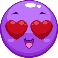 Purple Love Smiley