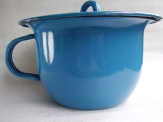 Vintage Blue Enamel Chamber Pot Soviet children's potty